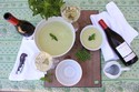 Chilled Pea soup with Mint